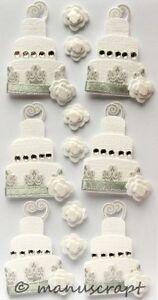Artoz Artwork 3d Sticker Torte Weiss Silber Hochzeitstorte Ebay