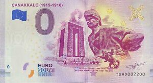 BILLET-0-EURO-CANAKKALE-TURQUIE-2019-NUMERO-2200
