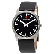 Mondaine Simply Elegant Black Dial Ladies Watch A400.30351.14SBB