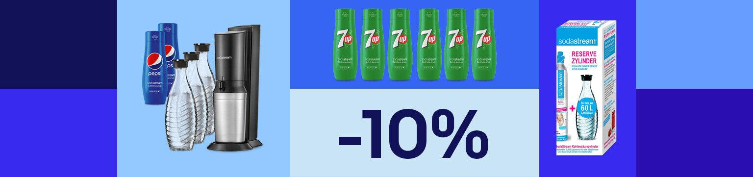 -10% Gutschein* auf Wassersprudler