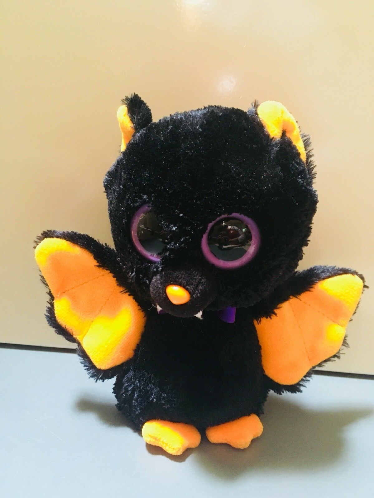 "Beanie Boo Bat Baron (Rare) 6"" Big Eyes With Friends.  (inclu. Pictured Friends)"