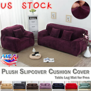 Sensational Details About Easy Fit Sofa Slipcover Stretch Protector Soft Couch Cover Thick Plush Velvet Us Andrewgaddart Wooden Chair Designs For Living Room Andrewgaddartcom