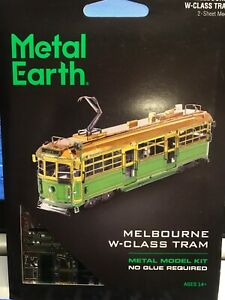 Steel Model Kit Melbourne Tram stunning no glue ideal gift collectible