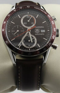 2274f0e70ca4f Image is loading CV2013-FC6234-TAG-HEUER-CARRERA-AUTOMATIC-CHRONOGRAPH-BROWN -
