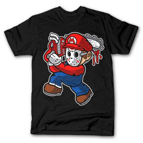 mario massacre freddy chainsaw 13th friday mashup dtg mens t shirt tees