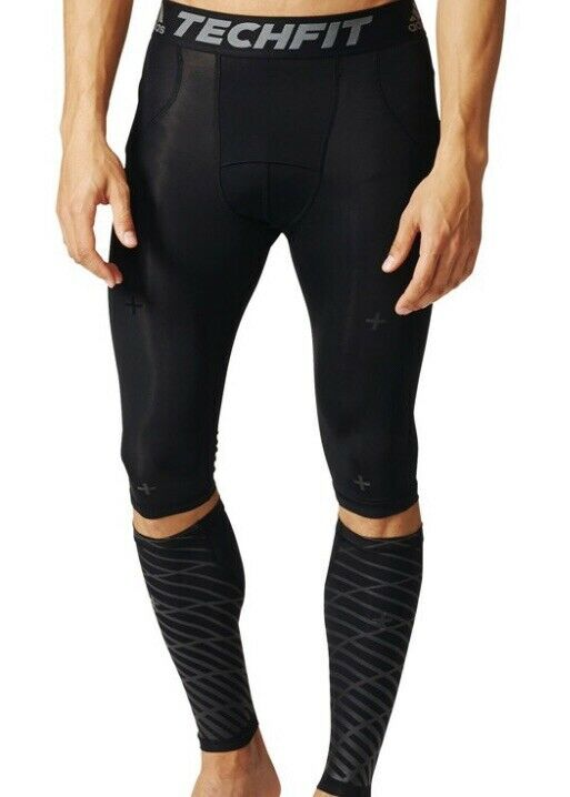 Adidas Techfit 3-In-1 Recovery Tights and Calf Warmer (B45500) Compression Short