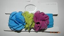 NWT KOALA BABY girls Turquoise Sparkle Flower Headwrap HEADBAND* Infant Toddler