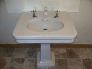1920 Pedestal Sink : 1920s TEPECO Pedestal Sink (The Trenton Potteries Company/now Crane ...