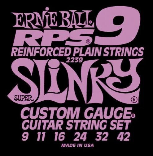 Ernie Ball 2239 RPS9 Reinforced Slinky Nickel Wound Electric Guitar Strings 9-42