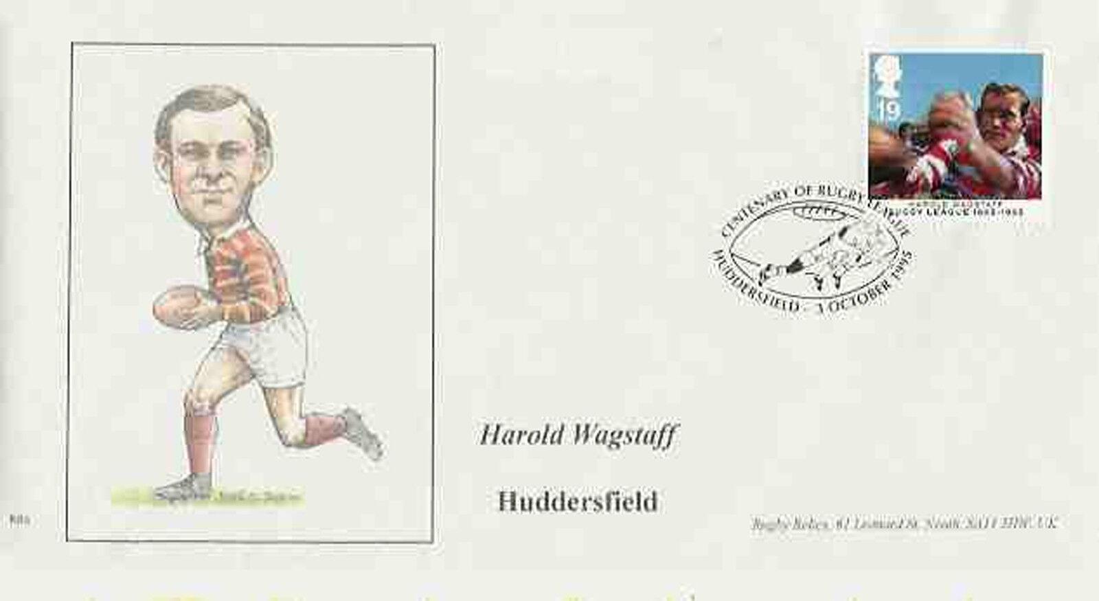 Harold wagstaff, Huddersfield, centenaire premier jour couverture Rugby League centenaire Huddersfield, en 1995 a85653