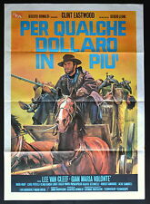 MANIFESTO POSTER CINEMA PER QUALCHE DOLLARO IN PIU' LEONE EASTWOOD WESTERN GUN 1