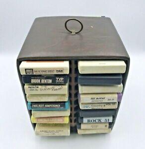 Lot-of-31-Vintage-8-Track-Tapes-Cassettes-with-Vintage-Tape-Holder