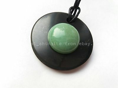 "Shungite pendant /""circle/"" from Karelia magic aura stone talisman health"