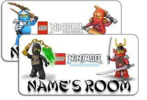 Personalised Lego Ninjago Aluminium Door Name Plaque Ebay