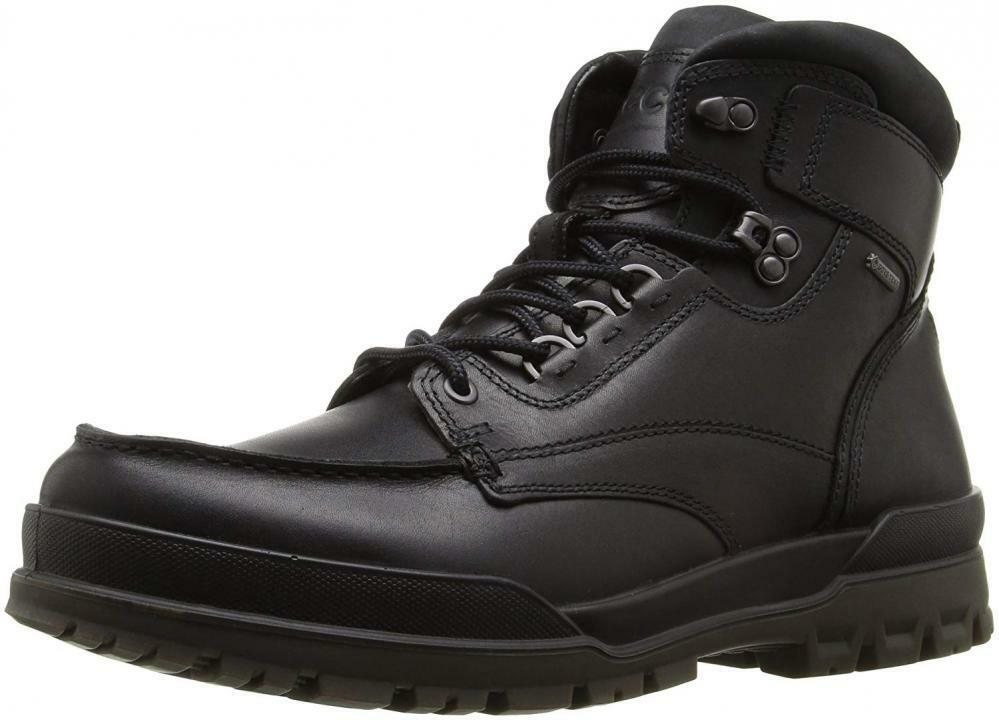 ECCO Men's Track 6 Gore-Tex Moc Toe High Winter Boot Leather Comfort Casual Snow