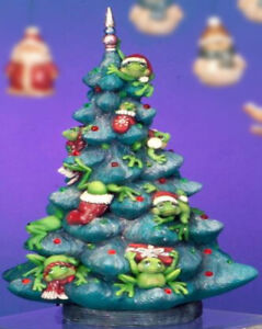Details About Ceramic Bisque Ready To Paint Frog Tree With Large Pin Lights And Electric Kit
