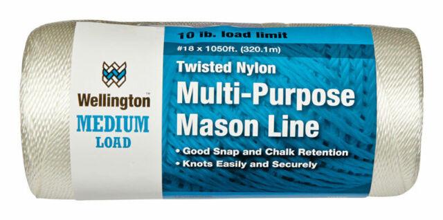 Dia x 260 ft Wellington  #18 in L White  Twisted  Nylon  Mason Line Twine