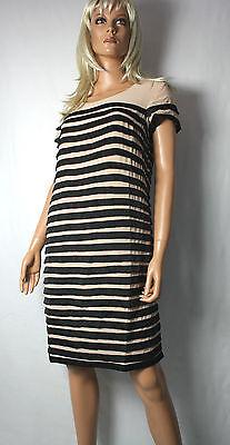 Solar Romantisches Kleid Lamellen Optik Gr. 38   Stufen Vintagelook