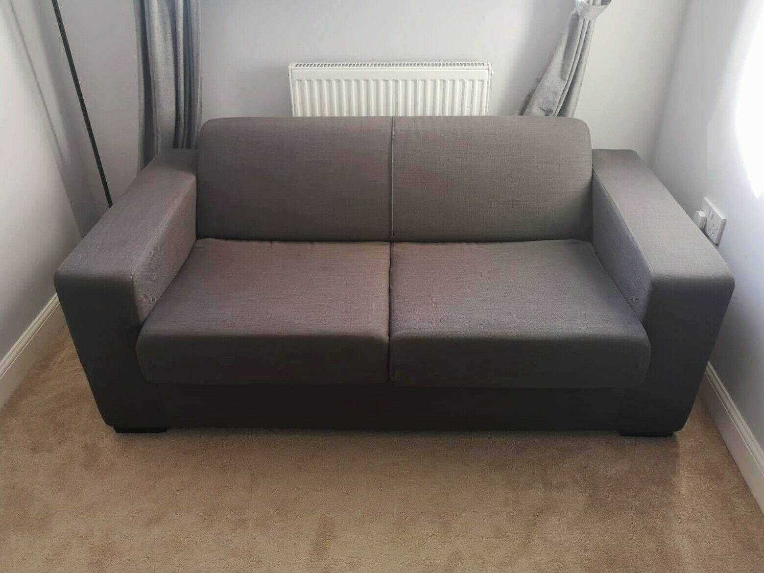 - Argos Home Dallas 2 Seater Fold-out Fabric Sofa Bed - Charcoal For