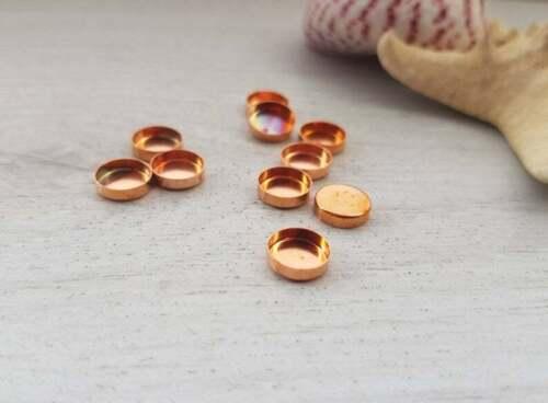 Taza de bisel de cobre 8mmCobre Sólido10 piezas