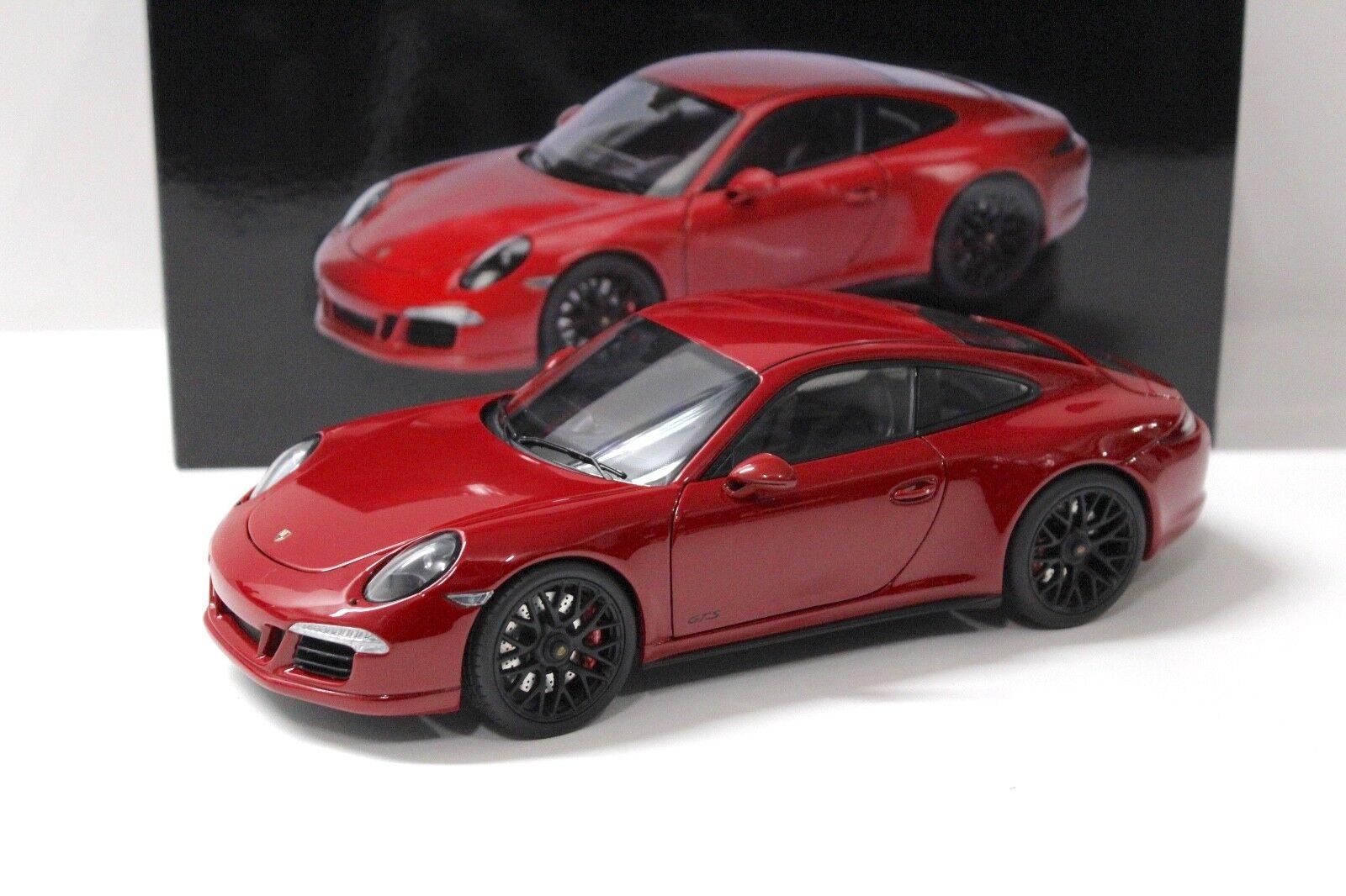 1 18 Schuco PORSCHE 911 (991) Carrera GTS Karmin rosso NEW in Premium-MODELCARS