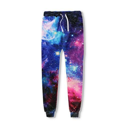 Fashion Women//Men Galaxy 3D Print casual Hoodies Sweatshirt Pants Tracksuit PYG5