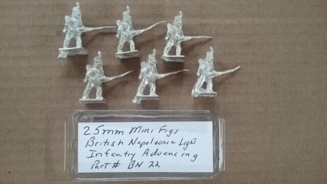 25mm Mini Figs British Napoleonic Marines advancing