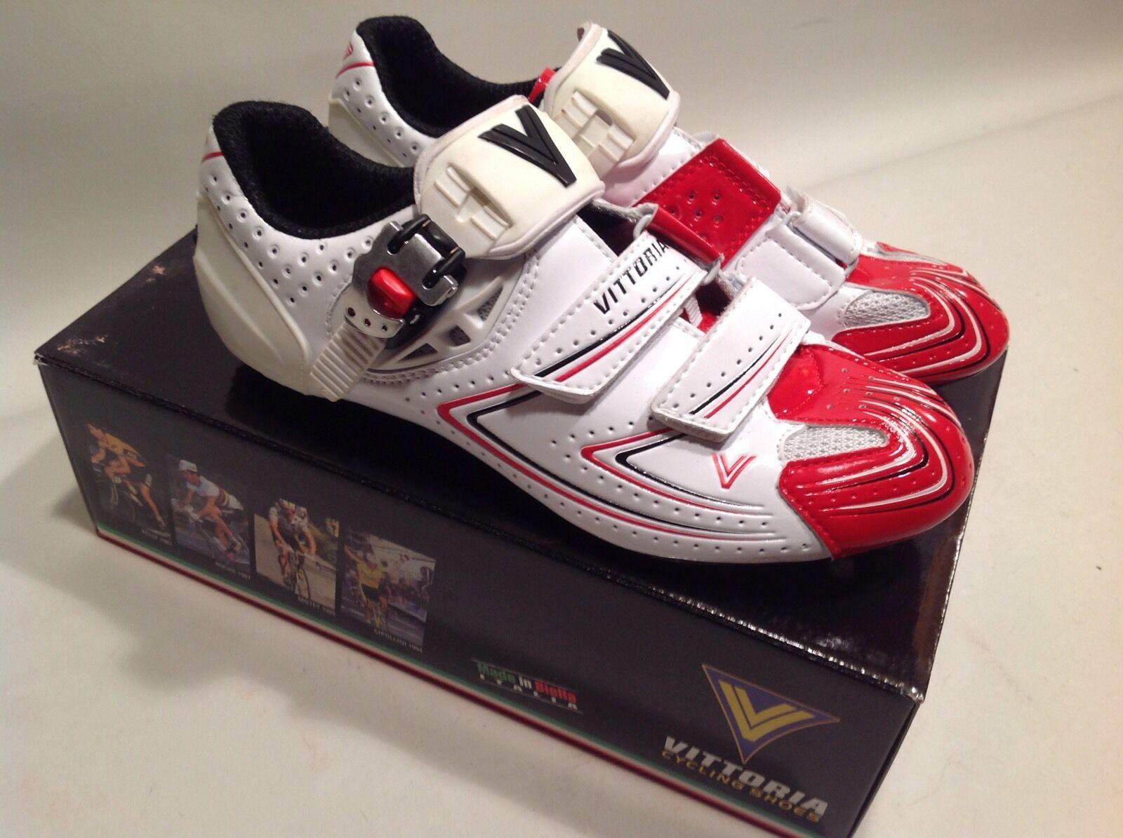 Vittoria VPro Carbon Road Cycling scarpe 40 EU 7.5 US biancarosso