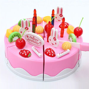 Image Is Loading 38Pcs Pretend Role Play Kitchen Toy Happy Birthday