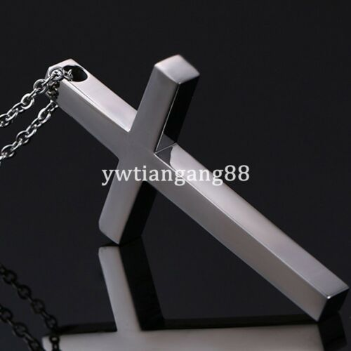 316L Stainless Steel Polishing Women Men/'s Silver Cross Pendant Necklace Chain