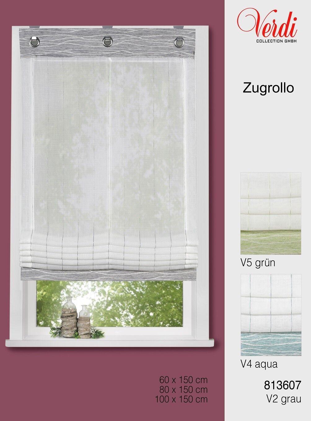 Modernes Zugrollo Paula mit Dekorblende in 3 Farben   3 Größen | New Products