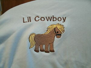 Personalized Baby Infant Toddler Blanket Cute Pony Boy