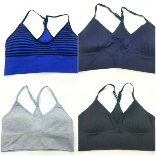 Felina Seemless ONE-T-Back Bralette Bra w// Removable Pads Pic Col /& Size