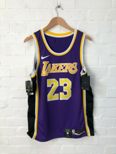 L New Nike Los Angeles Lakers Men/'s Statement Basketball Jersey James 23