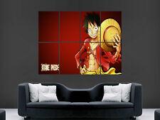 "One Piece Luffy manga de imagen de arte gran gran pared arte cartel Imagen """