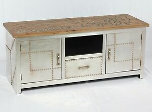 vintage lowboard industrie design sideboard retro tv board alu kommode 504 ebay. Black Bedroom Furniture Sets. Home Design Ideas