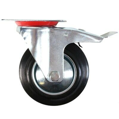150mm Rubber Swivel and Swivel with Brake Castor Wheel