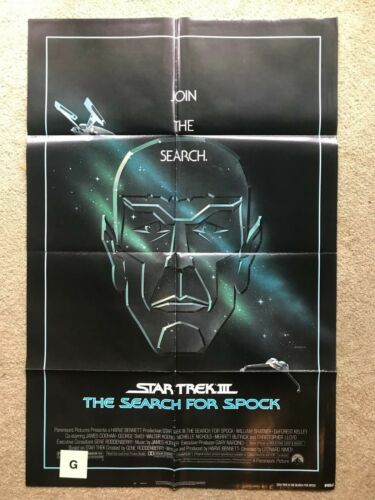 Original 1Sheet Poster 27x41 Star Trek III The Search for Spock 1984 Schatner
