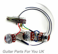 HAND MADE 250k Stratocaster strat Wiring Harness kit 0.033uf cap FULL SIZE pots