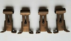 4 Vintage Swing Arm Curtain Rod Hardware Metal Mounting ...