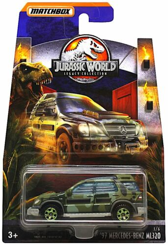 Matchbox JURASSIC WORLD Legacy 1997 Mercedes-Benz ML320 Giocattolo Nuovo con Scatola Diecast
