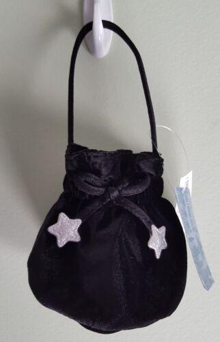 NEW Old Navy Toddler Girls Poly Velvet PURSE Pouch BLACK & SILVER Dressy #142218
