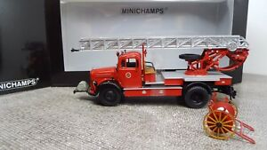 Minichamps-1-43-439350080-Mercedes-Benz-L-3500-DL-17-Feuerwehr-Bensheim-NEU-OVP