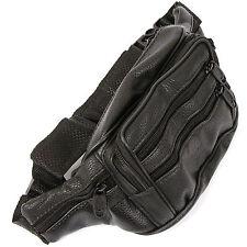 New Black PU Leather Waist Fanny Pack Belt Bag Pouch Travel Hip Purse Men Women