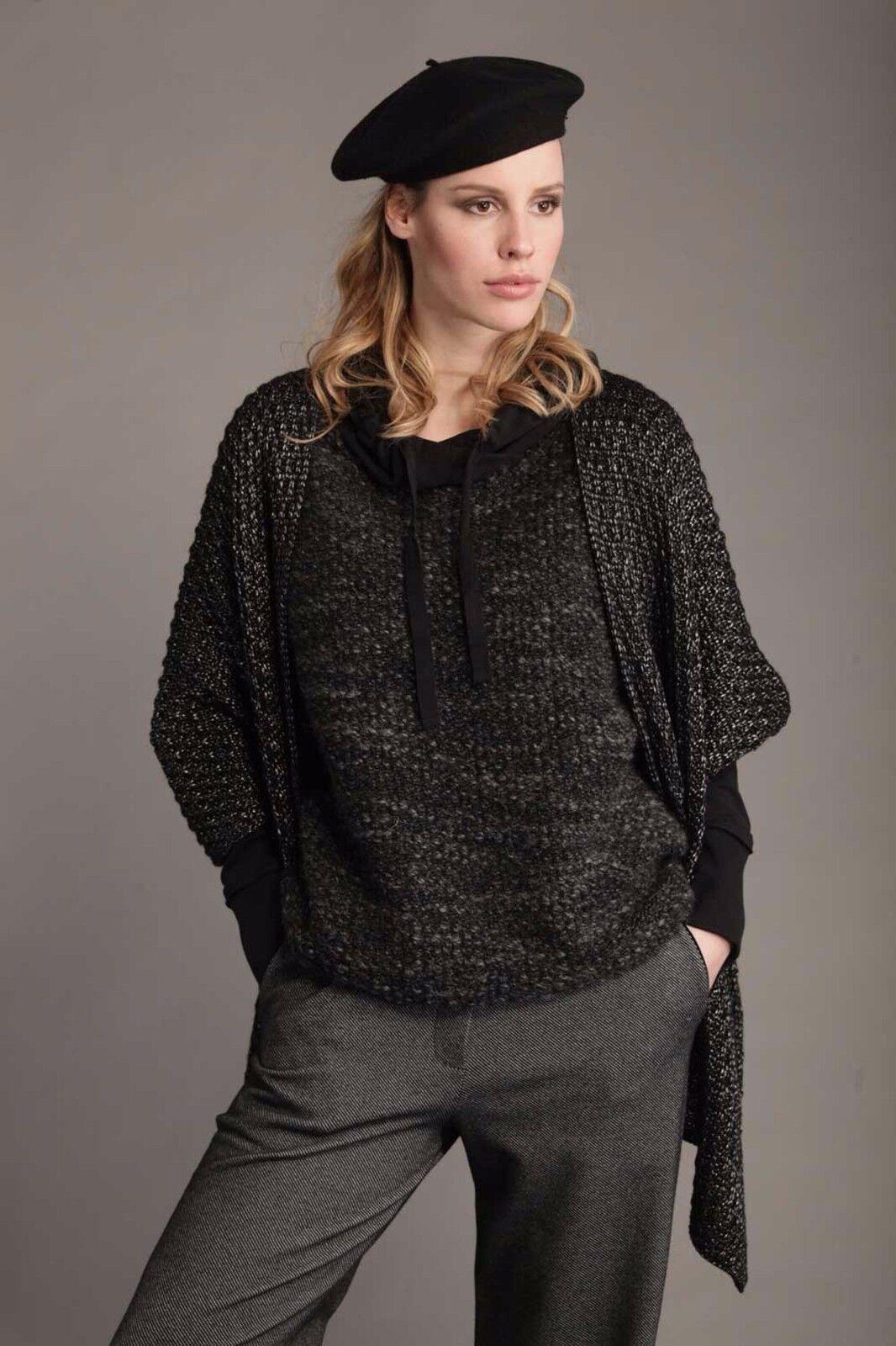 811d0505af ... Felpa da donna nera Deha con cappuccio manica lunga lunga lunga casual  cotone lana moda 5bf31e
