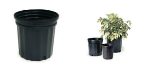 Details About 50 Pack Commercial 3 Gallon Nursery Flower Pots Containers 11 Wide X 10 Tall