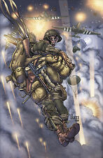 """101st AIRBORNE 506th PIR """"FILTHY 13"""" SALUTE  Signed Numb'd Litho by Billy Tucci"""