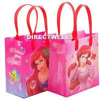 Disney Little Mermaid Authentic Licensed Medium 8 Favor Goodie Loot 12 Bags