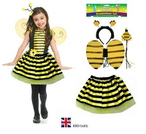 f9011d325 Image is loading Kids-BUMBLE-BEE-TUTU-COSTUME-Easter-Fancy-Dress-