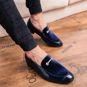 Nouveau Homme Business Party Robe Formal Chaussures en cuir compensés à bout pointu Slip On Flats Chic